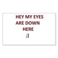 My Eyes Are Down Here Decal