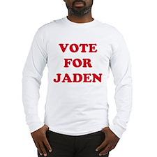 VOTE FOR JADEN Long Sleeve T-Shirt