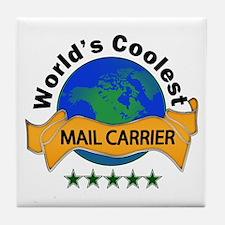 Unique Mailman Tile Coaster