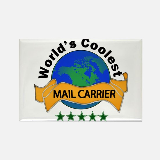 Cool Mail worker Rectangle Magnet