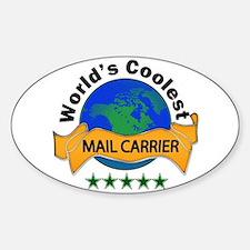Cute Mailman Sticker (Oval)