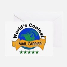 mail carrier Greeting Cards