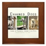 3 Chained Dogs: Longing to be Framed Tile