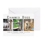 3 Chained Dogs: Longing to be Greeting Cards (Pack
