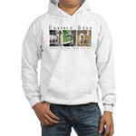 3 Chained Dogs: Longing to be Hooded Sweatshirt