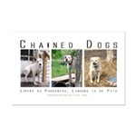 3 Chained Dogs: Longing to be Mini Poster Print