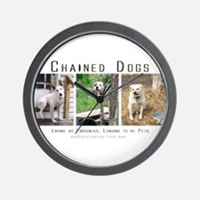 3 Chained Dogs: Longing to be Wall Clock