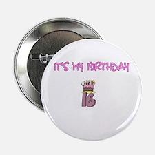 16th Birthday Button
