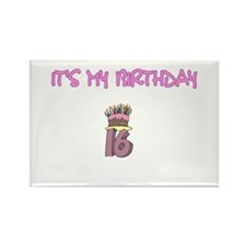 16th Birthday Rectangle Magnet