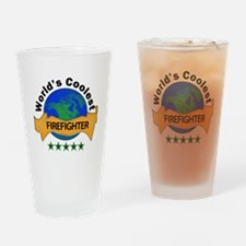 Unique World%27s greatest firefighter Drinking Glass