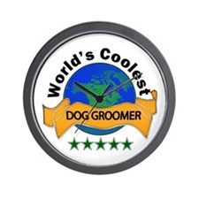 Unique Dog groomer Wall Clock