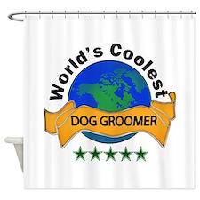 Funny Groomer Shower Curtain