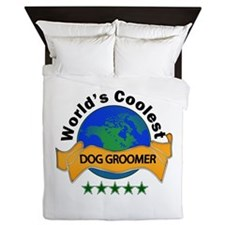 Cool Dog trainer Queen Duvet