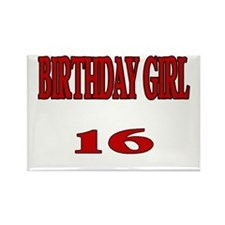 Birthday Girl 16 Rectangle Magnet