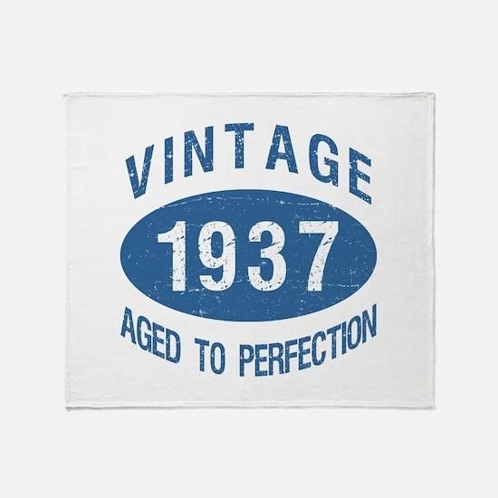 1937 Vintage Birthday Throw Blanket