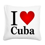 ilovecuba.png Square Canvas Pillow