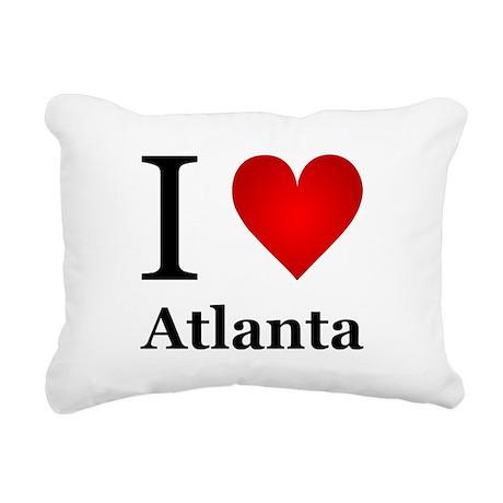 I Love Atlanta Rectangular Canvas Pillow