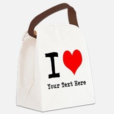 I Heart (personalized) Canvas Lunch Bag