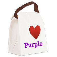 i-love-purple-dark-tee.png Canvas Lunch Bag
