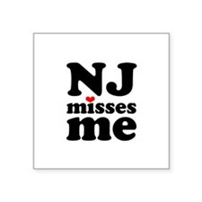 new jersey misses me Sticker