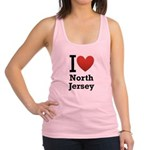 i love north jersey.png Racerback Tank Top