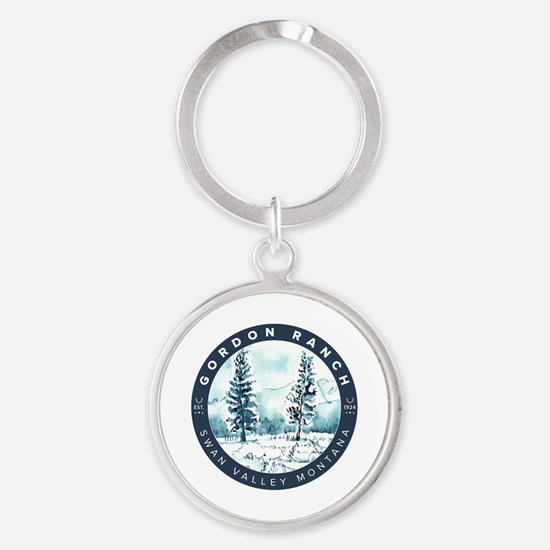 Unique Anne Round Keychain