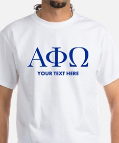 Alpha Phi Omega Letters Personalized Shirt