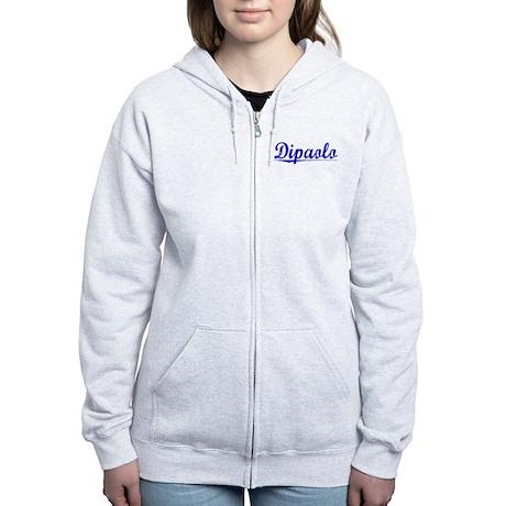 Dipaolo, Blue, Aged Women's Zip Hoodie