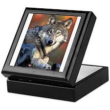 Awesome Gray Wolf Keepsake Box