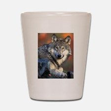 Awesome Gray Wolf Shot Glass