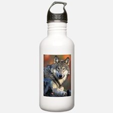Awesome Gray Wolf Water Bottle