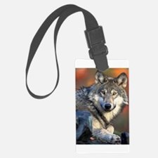 Awesome Gray Wolf Luggage Tag