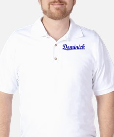 Dominick, Blue, Aged Golf Shirt