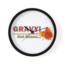 Splattered Gravy Not Sauce Wall Clock