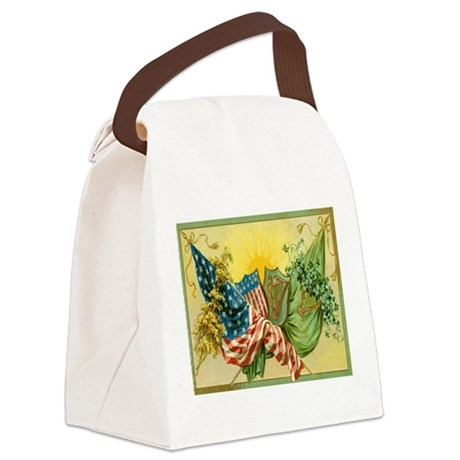 American Irish Canvas Lunch Bag