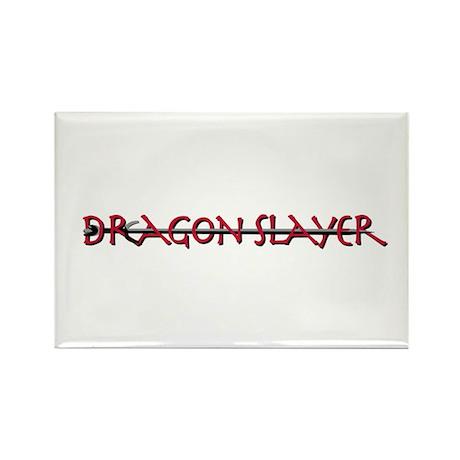 Dragon Slayer Gear Rectangle Magnet