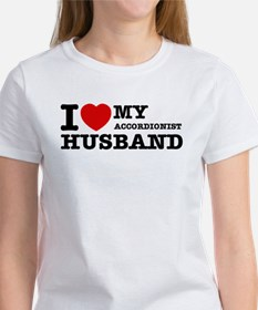 I love my Accordionists husband Women's T-Shirt