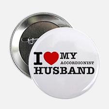 "I love my Accordionists husband 2.25"" Button"