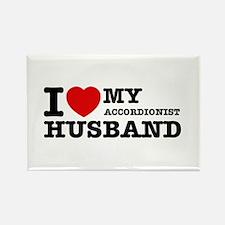 I love my Accordionists husband Rectangle Magnet