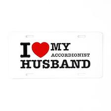 I love my Accordionists husband Aluminum License P