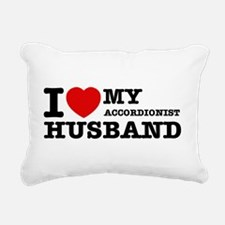 I love my Accordionists husband Rectangular Canvas