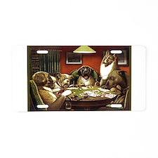 Waterloo Dog Poker Aluminum License Plate