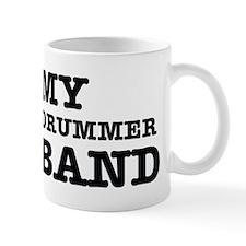I love my Drummer husband Small Mug