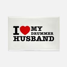 I love my Drummer husband Rectangle Magnet