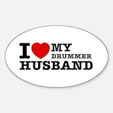 I love my Drummer husband Decal