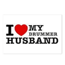 I love my Drummer husband Postcards (Package of 8)