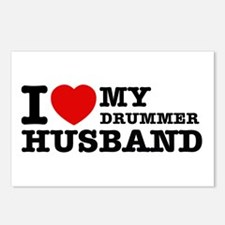 I love my Drummer husband Postcards (Package of 8)