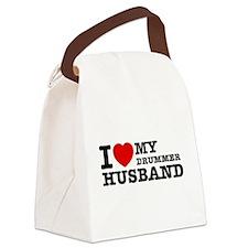 I love my Drummer husband Canvas Lunch Bag