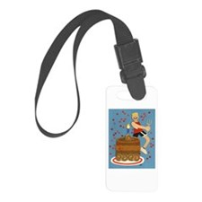 Will Run For Cake Luggage Tag