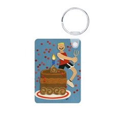 Will Run For Cake Keychains